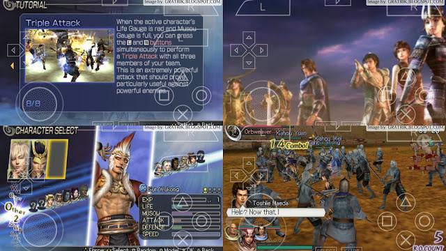 warriors orochi 2 psp screenshot gameplay overview