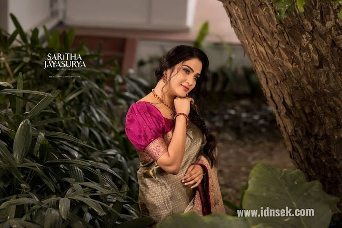 Actress Aditi Ravi Latest Saree Stills