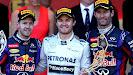 Podium 2013 Monaco: 1. Rosberg 2. Vettel 3. Webber