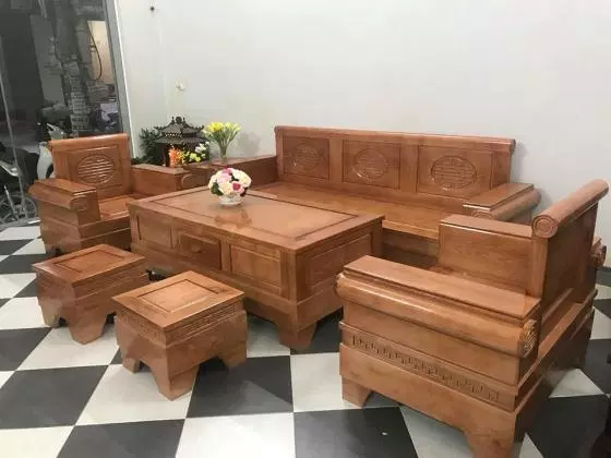 Bộ bàn ghế gỗ Sồi hiện đại 2019