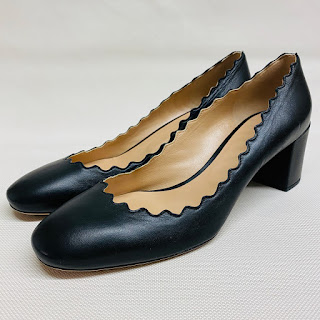 Chloé Lauren Black Leather Pumps