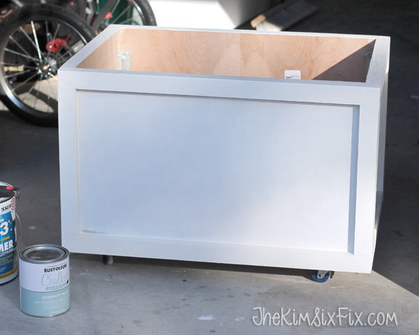 Priming DIY wooden toybox