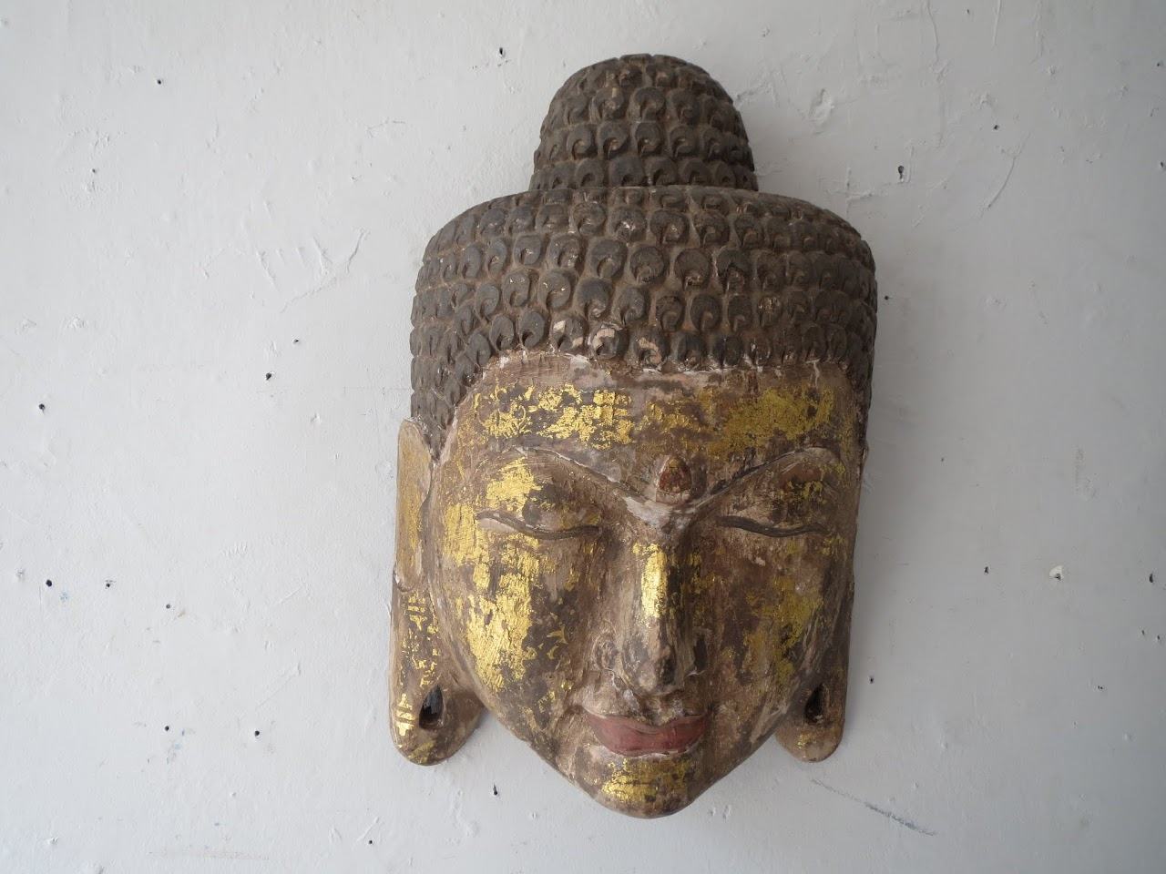Small Carved Buddha Wall Hanging
