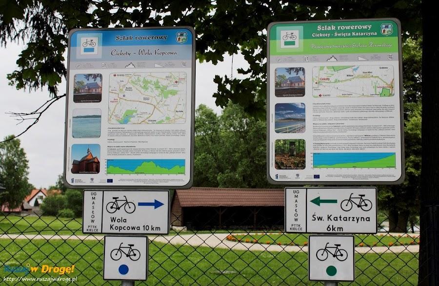 Ciekoty - szlaki rowerowe wokół domu żeromskiego