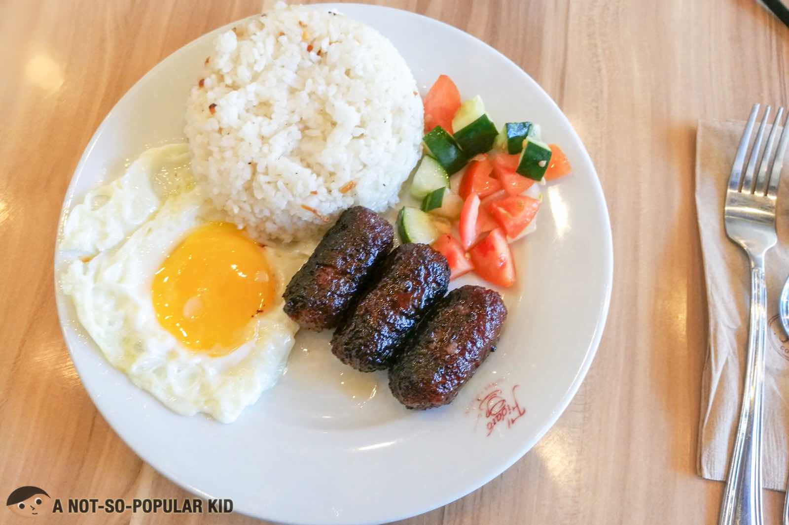 Pork Longganisa of Figaro in Bonifacio High Street