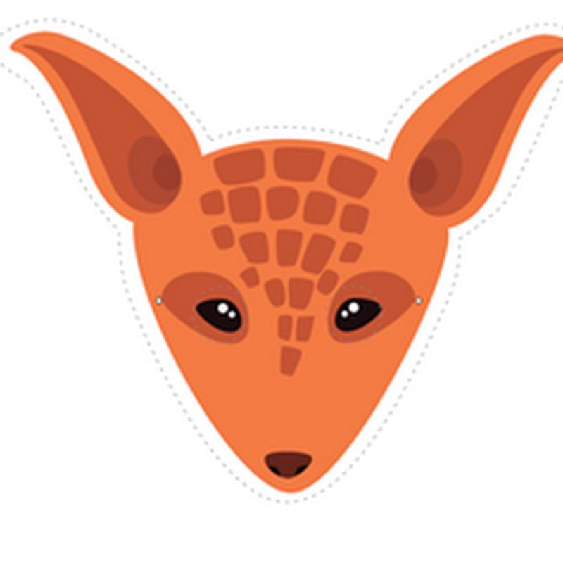 Máscara de armadillo para imprimir, color y colorear