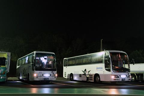 西鉄高速バス「さぬきエクスプレス福岡号」 4101&3802 鴻ノ池PAにて
