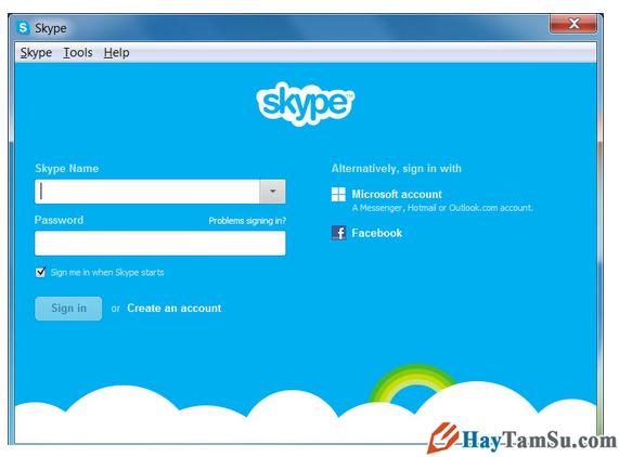 Hoàn tất cài đặt Skype