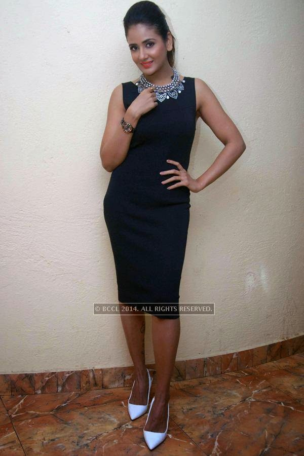 Parul Yadav at the press meet of Vaastu Prakara in Bangalore.