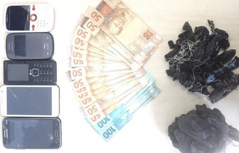 Polícias Civil e Militar prendem acusados de tráfico de drogas e estelionato em Gurupá