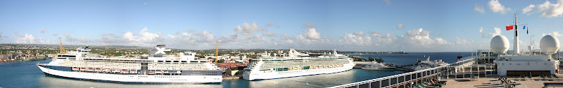Barbados port panorama