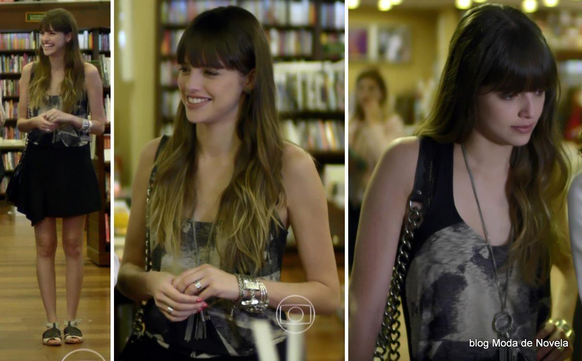 moda da novela Em Família - look da Gisele dia 16 de maio