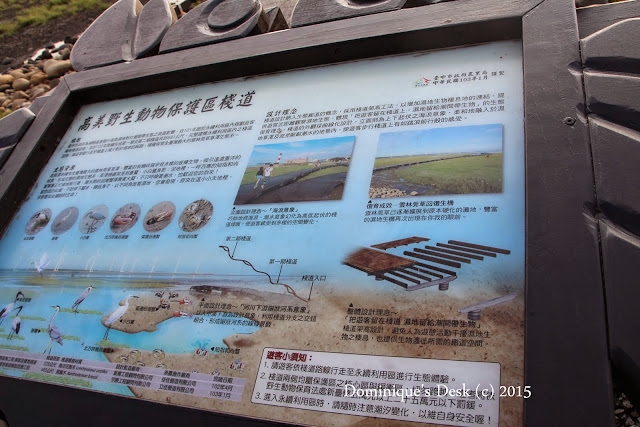 The information board at the start of the boardwalk