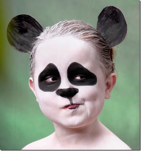 maquillaje de osos panda