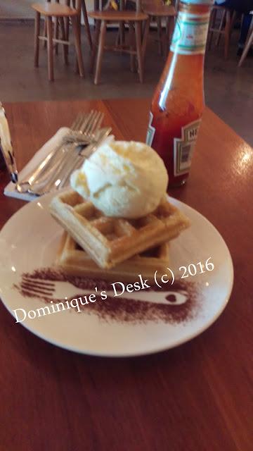 Waffle ice-cream
