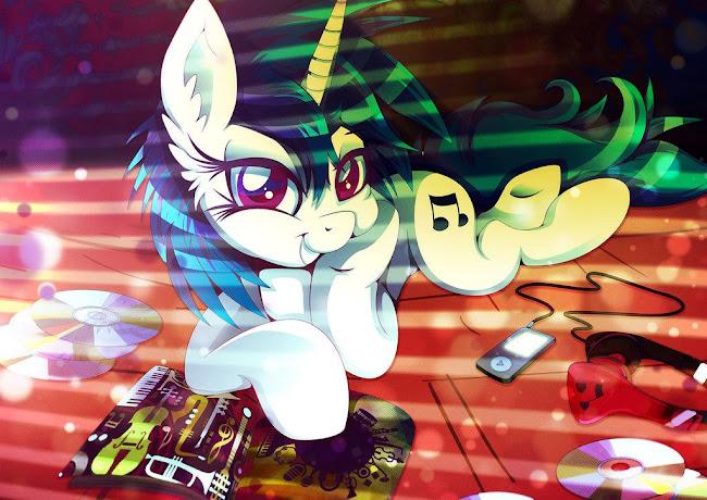 http://rariedash.deviantart.com/art/Vinyl-Scratch-the-70ies-644517698