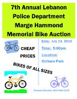 7th Annual Marge Hammond Memorial Bike Auction