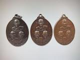 เหรียญสามอาจารย์ (ชม หงษ์ จ้อย) วัดท่าไทร สุราษฏร์ธานี รุ่นเ หรียญดัง ปี 20