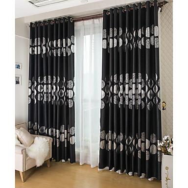 Cortinas cortinas dobles opacas negro y plata for Cortinas plateadas salon