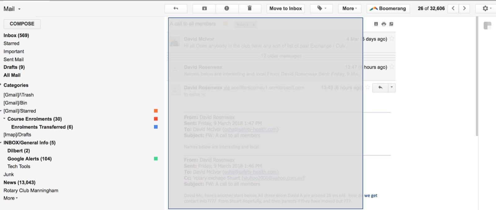 Column for inbox screen too wide - Gmail Help