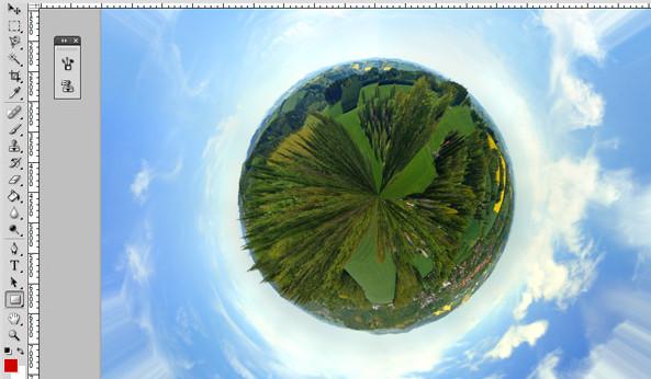 Mendesain planet menggunakan polar coordinate