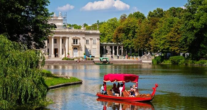 Boating in Lazienki Park Poland
