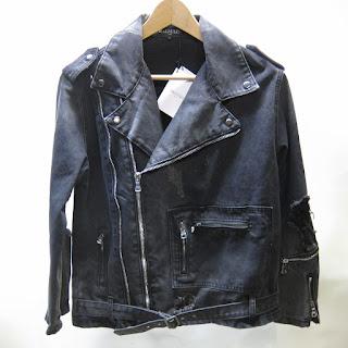 Balmain NEW Denim Moto Jacket