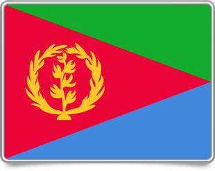 Eritrean framed flag icons with box shadow