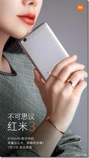 Spesifikasi Xiaomi Redmi 3 Terungkap!