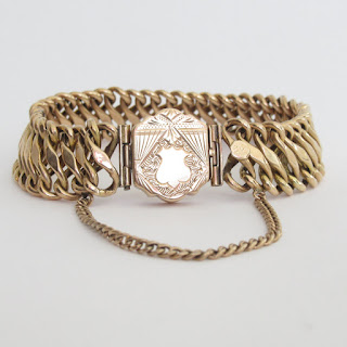 14K Gold Vintage Chain Bracelet