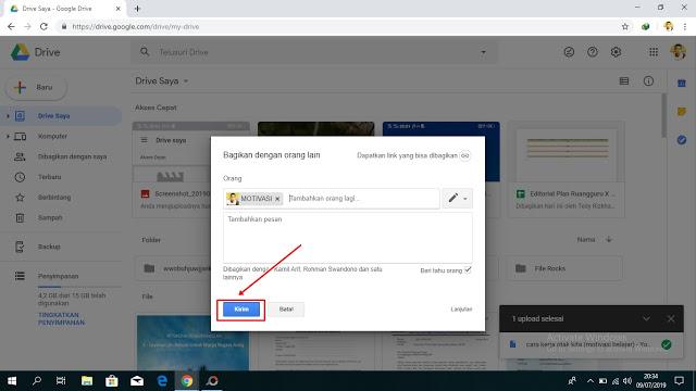 Cara Membagikan File Google Drive Langsung ke Email. 2