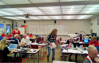ARES volunteers at a Red Cross shelter in Shasta County. Photo courtesy of Greg Kruckewitt, KG6SJT