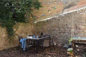 Zona jardí casa de vacances de lloguer