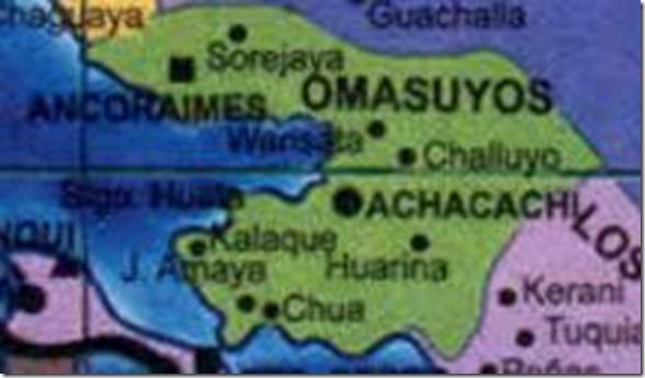Provincia Omasuyos (1826): departamento de La Paz (Bolivia)