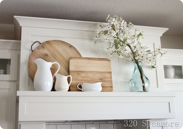 spring mantel kitchen