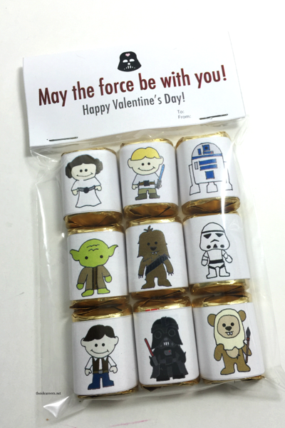 Star Wars Candy Wrappers Valentine