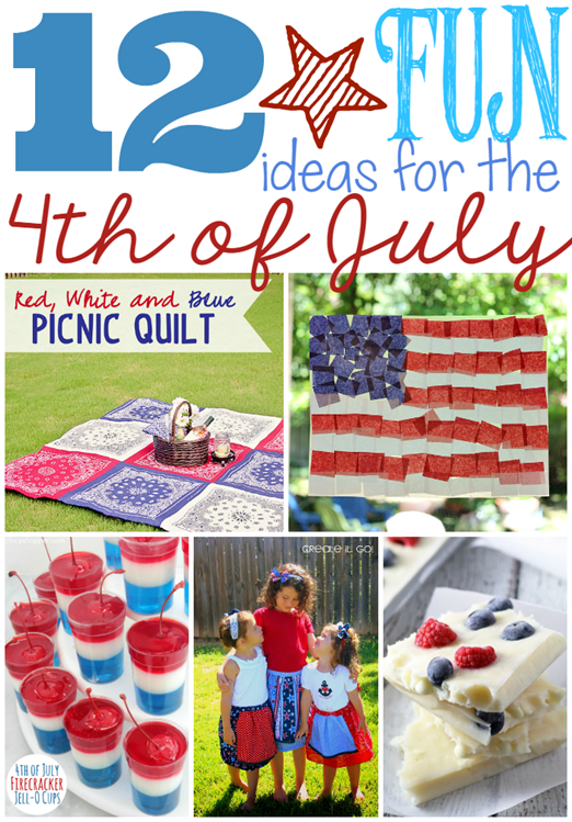 12 Fun Ideas for the 4th of July at GingerSnapCrafts.com #4thofJuly #America #gingersnapcrafts