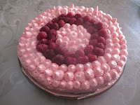 Gâteau rose au chocolat