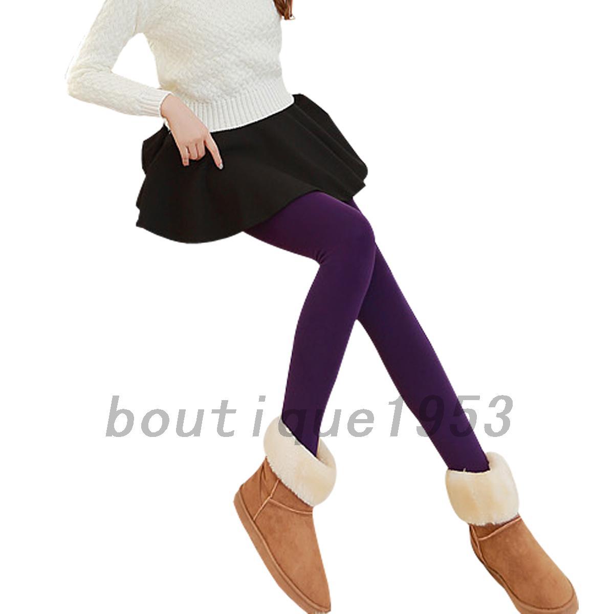 Skinny Skin-tight Velvet Lining Women's Slim Leggings Pencil Pants ...