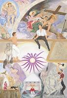 'In Kommunikation mit Michelangelo im Raum der Sixtinischen Kapelle', Öl auf Leinwand, 110x160, 2009