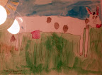 Landscape drawing on the farm during Summer Camp by Jacqueline