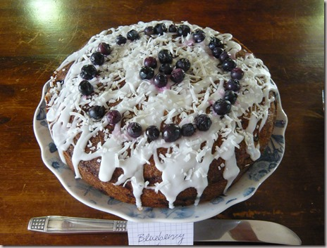 blueberry and coconut cake