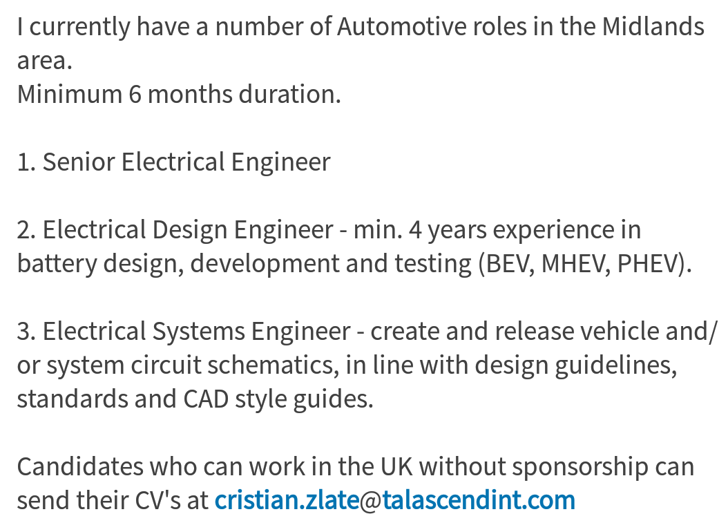Oil and Gas Jobs: Electrical Engineers UK