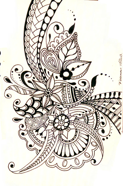 Zentangleput On Some Music And Let Them Doodle  Zentaglezendoodlepaisley Coloring  Pagespaisley