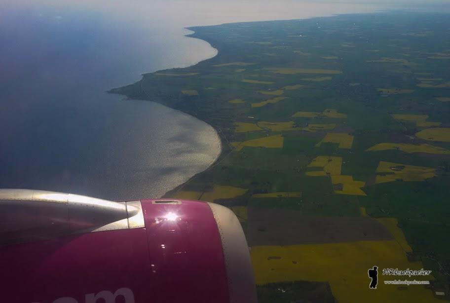 Već iz zrakoplova vidljiva su prostranstva Švedske