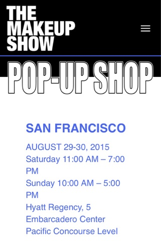 The Makeup Show Pop Up Shop San Francisco