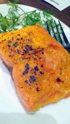One of the Roasts, the Irish Whiskey and Apricot Glazed Columbia River King Salmon for the Raven and Rose and Goose Island Brewers' Dinner Series event on December 7, 2014