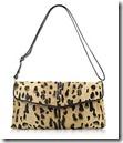 Fontanelli Calf Hair Shoulder Bag in Leopard Print