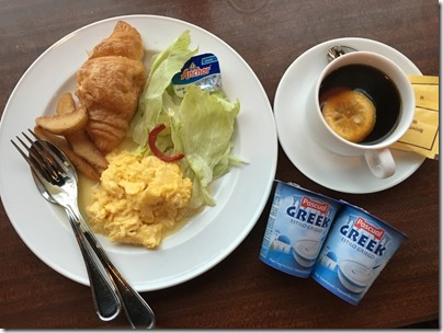 hotel breakfast at Ibis Hotel, North Point HK