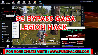 PUBG MOBILE v1.4 Free SG BYPASS and LEGION Hack for SMARTGAGA and Gameloop